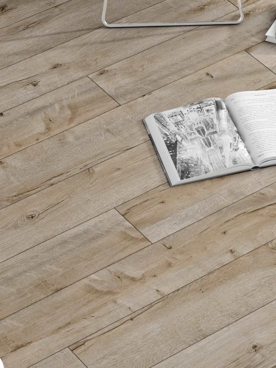Oak Wood Click Laminate Flooring - 1200x191x8(mm)
