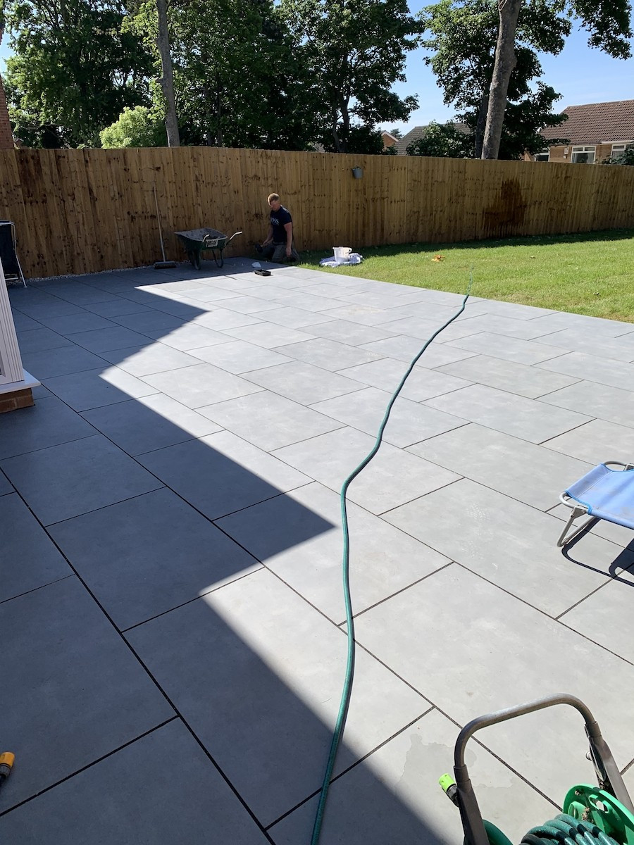 Milano Grey Virtue Outdoor Porcelain Paving Slabs - 900x600 Pack