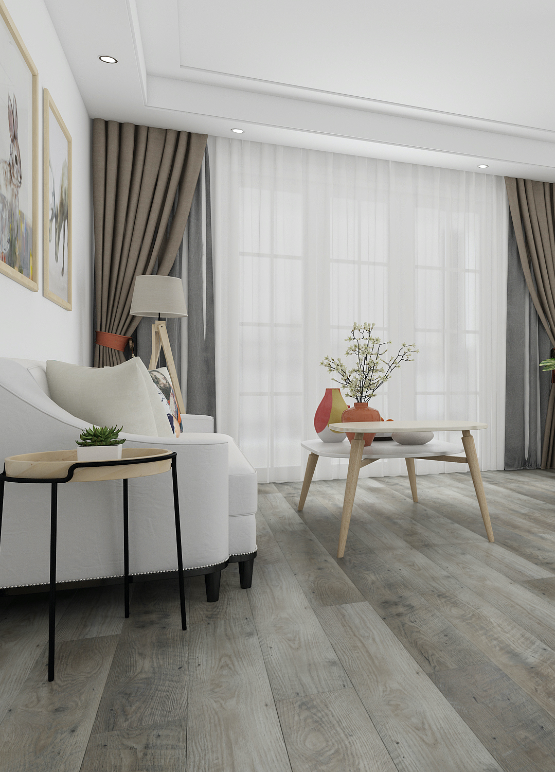 Forest Wood Luxury Vinyl Tiles - 1221x180