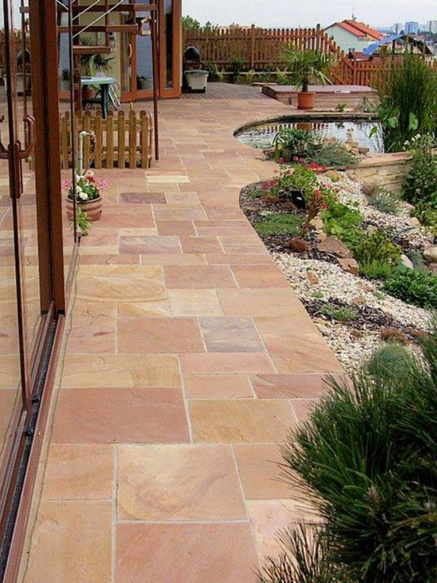 Modak Indian Sandstone Paving Slabs - Mix Size Patio Pack