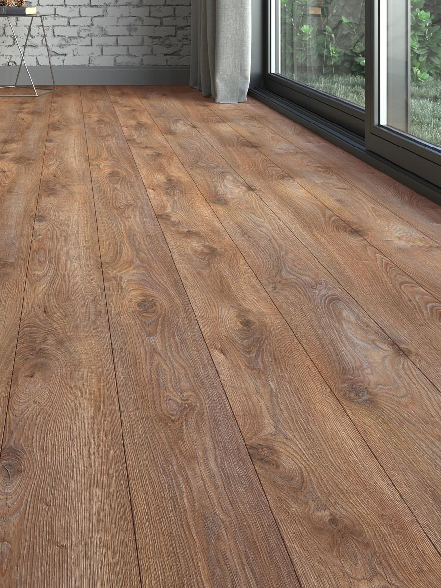 Rustic Teak Wood Click Laminate Flooring - 1200x191x8(mm)