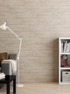 Picasso Silver Birch Wood Effect Porcelain Tiles - 600x150x8.5