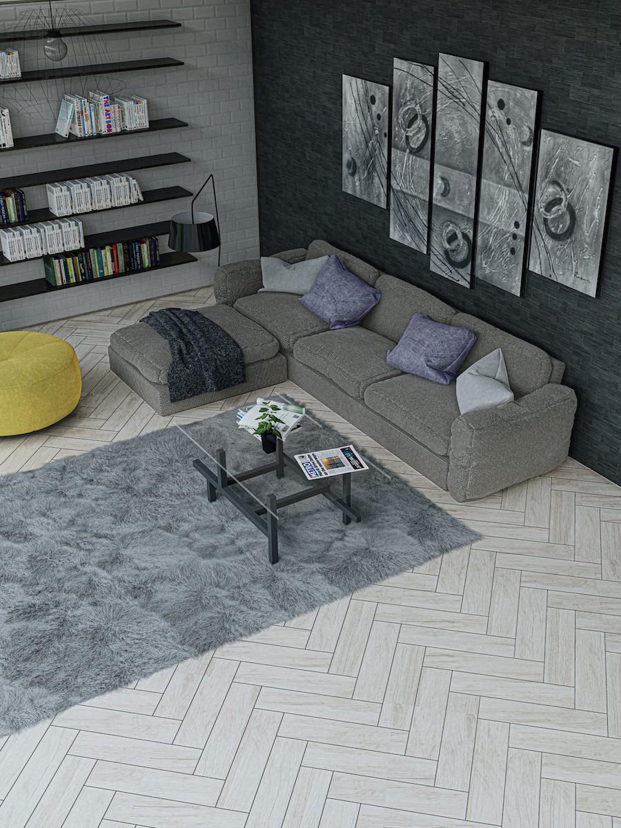 Artist Light Wood Effect Floor & Wall Tiles - 600x150(mm)