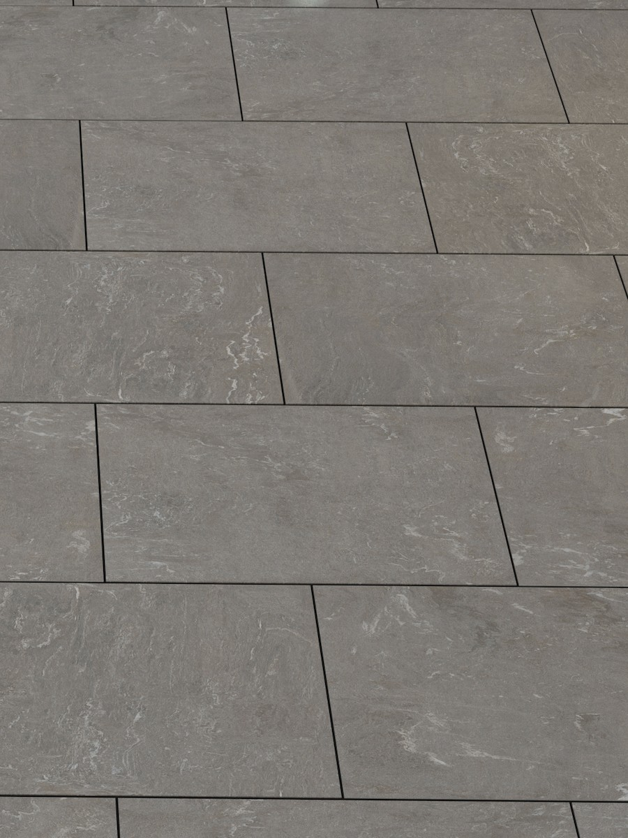 Pietra Di Vals Grey Outdoor Porcelain Paving slabs - 1200x600 Pack