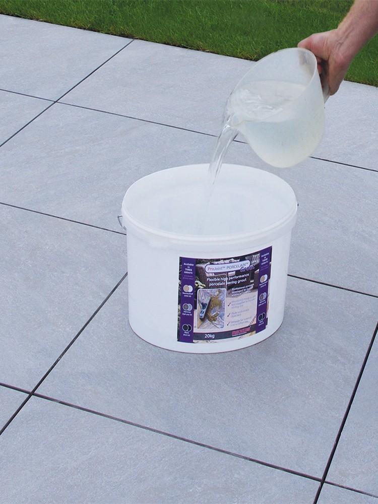 Pro Joint Porcelain Grout Flexible & High Strength Porcelain Paving Grout - 20kg Tub (Mid-Grey)