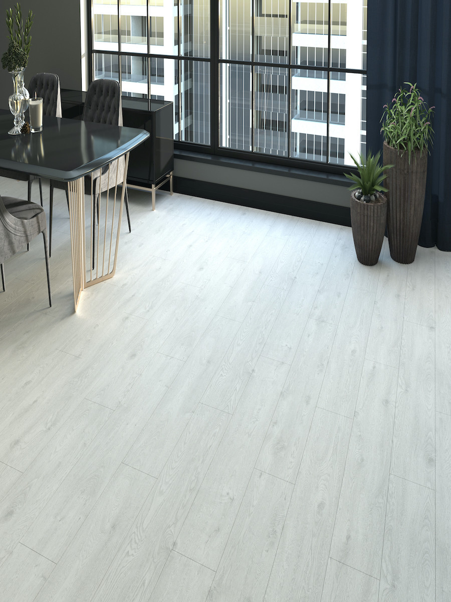 White Oak Click Laminate Flooring - 1195x189x12(mm)