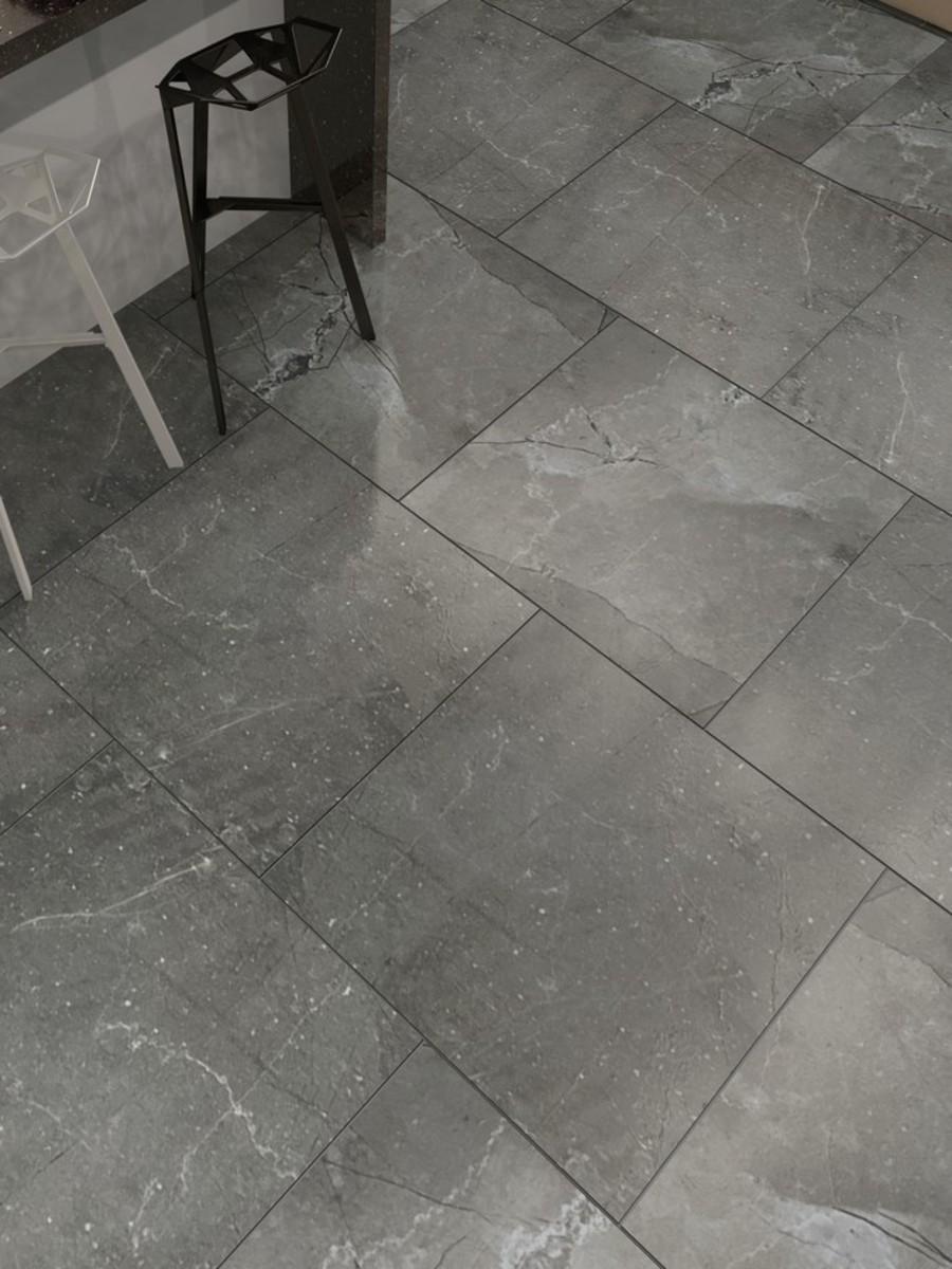 Pulpis Nero Indoor Floor & Wall tiles - 600x600 (mm)