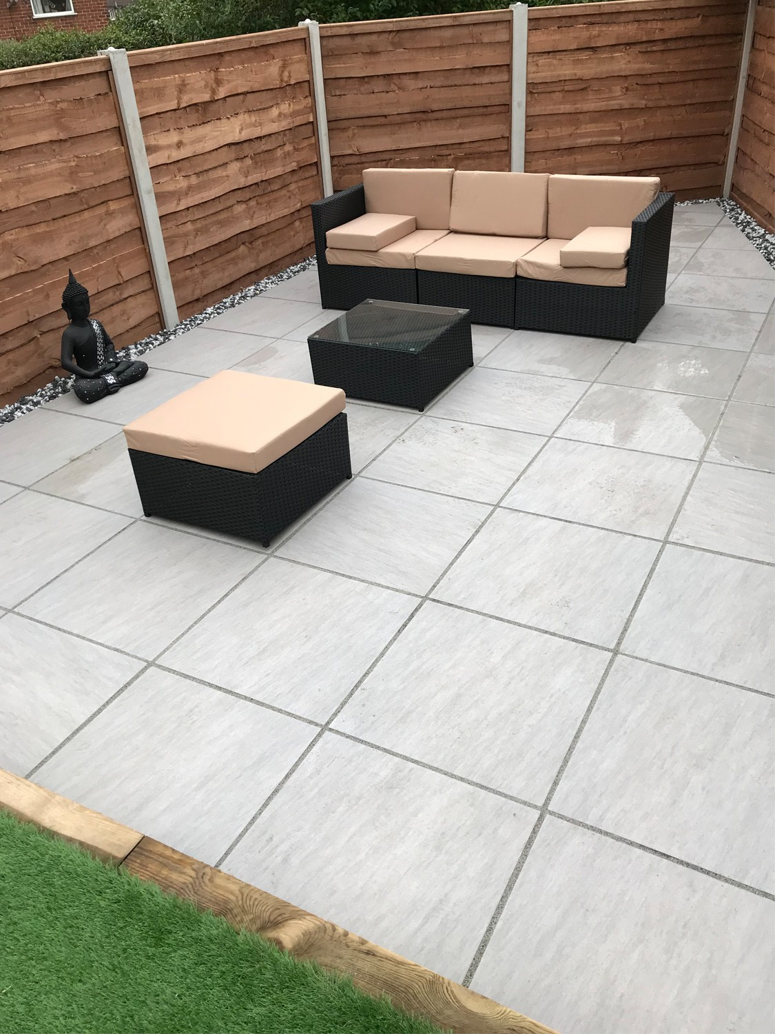 patio slabs. Patio Slabs. Simple Quartz Gris Smooth Stone Effect Porcelain Paving Slabs 600x600 Pack Throughout A