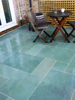 Kota Blue Sawn & Honed Limestone Paving 900x600