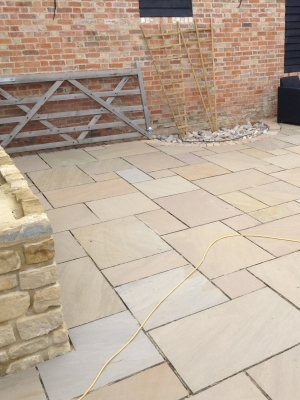 Raj Green Indian Sandstone Paving Slabs -  Mix Size Patio Pack