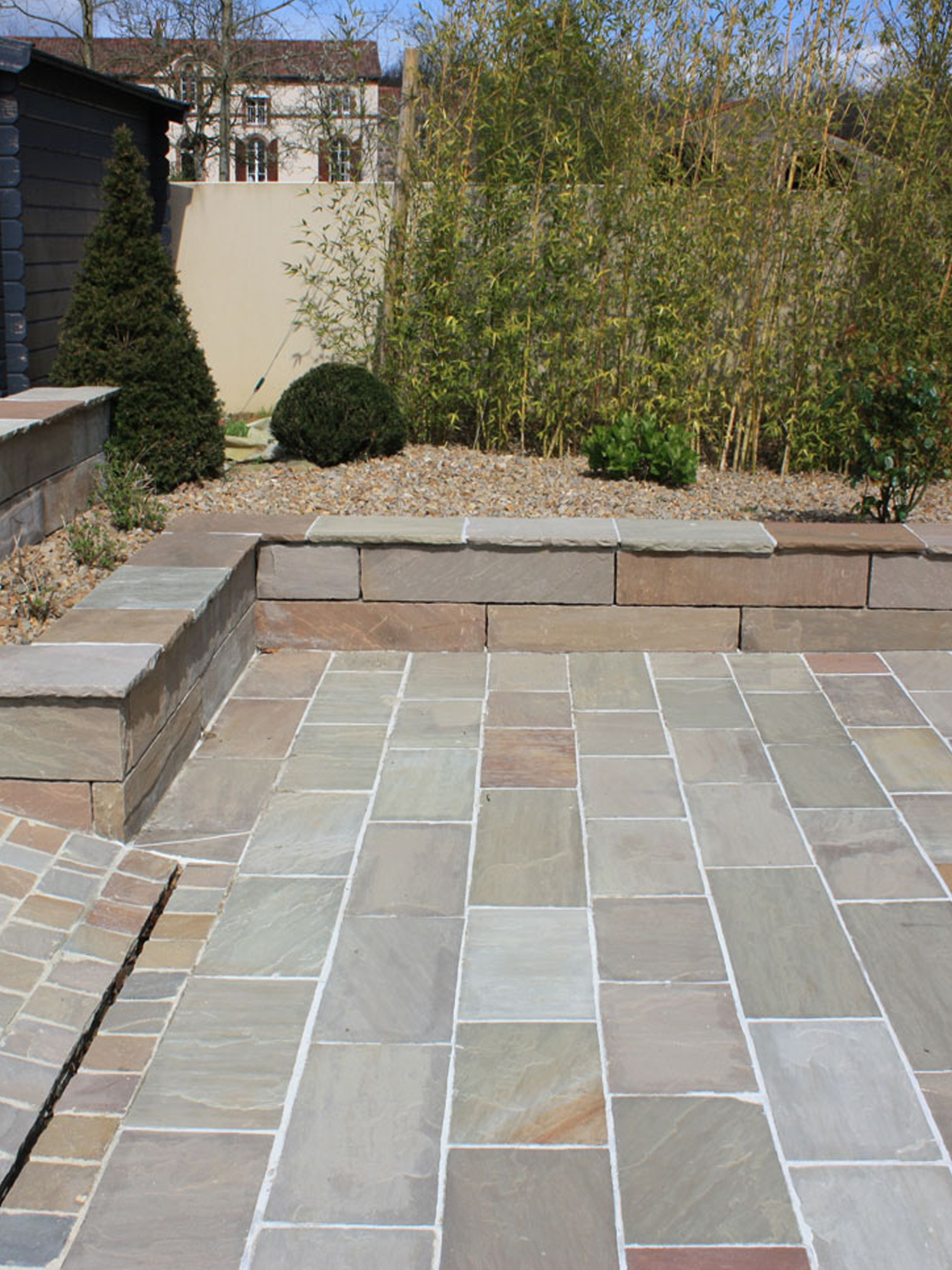 Raj Green Indian Sandstone Paving Slabs - 900x600 Pack