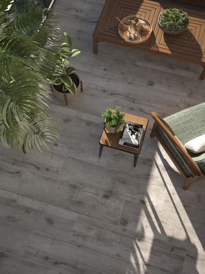 Silver Birch Wood Effect Indoor Floor Tile - 1200x300(mm)