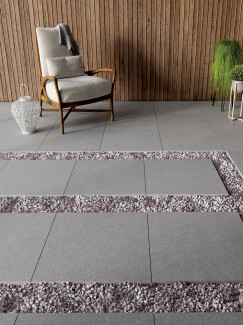 Silver Grey Granite Effect Outdoor Porcelain Paving Slabs - 600x600 Pack