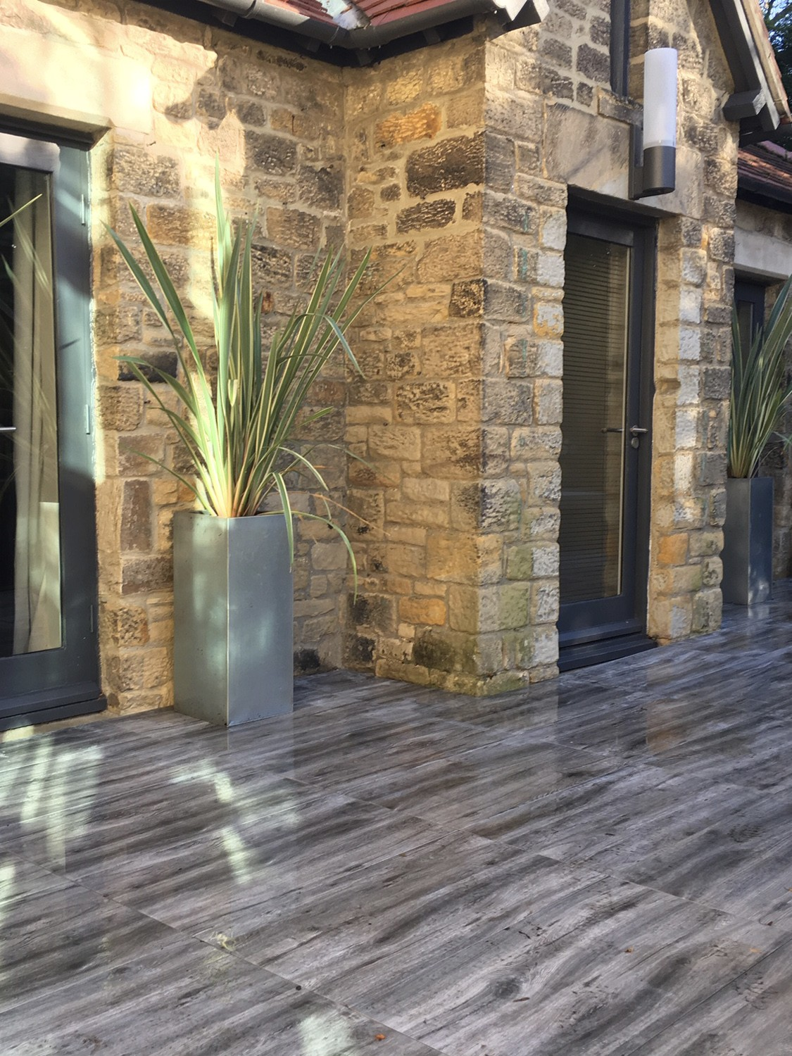 Silver Grey Wood Effect Virtue Vitrified Porcelain Paving Slabs - 900x450 Pack