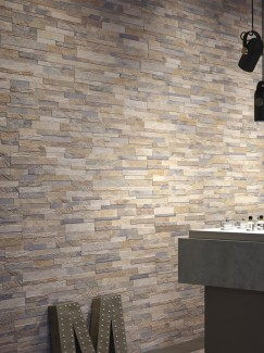 Beige Slate Split Face Effect Porcelain Wall Tile - 150x610