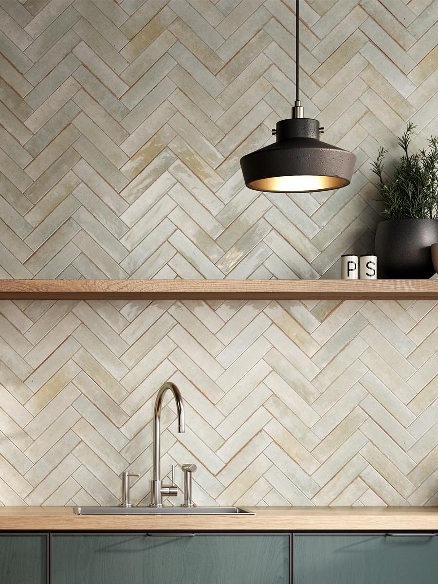 Soho Sage Luxury Italian Gloss Wall Tile - 60x250(mm)