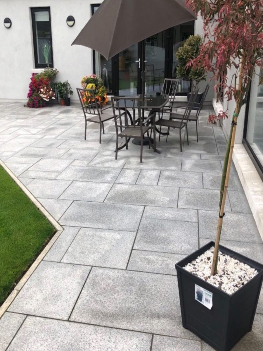 Star Galaxy Natural Quartz Paving Slabs - Mix Size Patio Pack