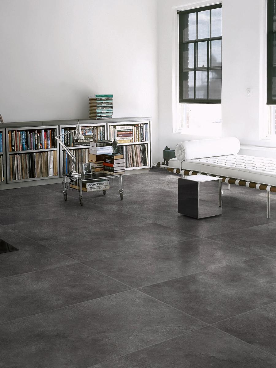Stream Anthracite Indoor Wall & Floor Tiles - 600x600(mm)