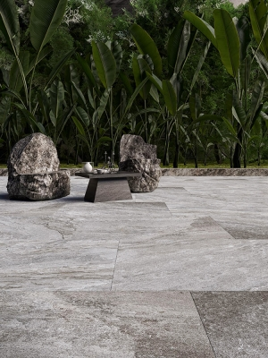 Valencia Grey Virtue Vitrified Porcelain Paving Slabs - 900x600 Pack