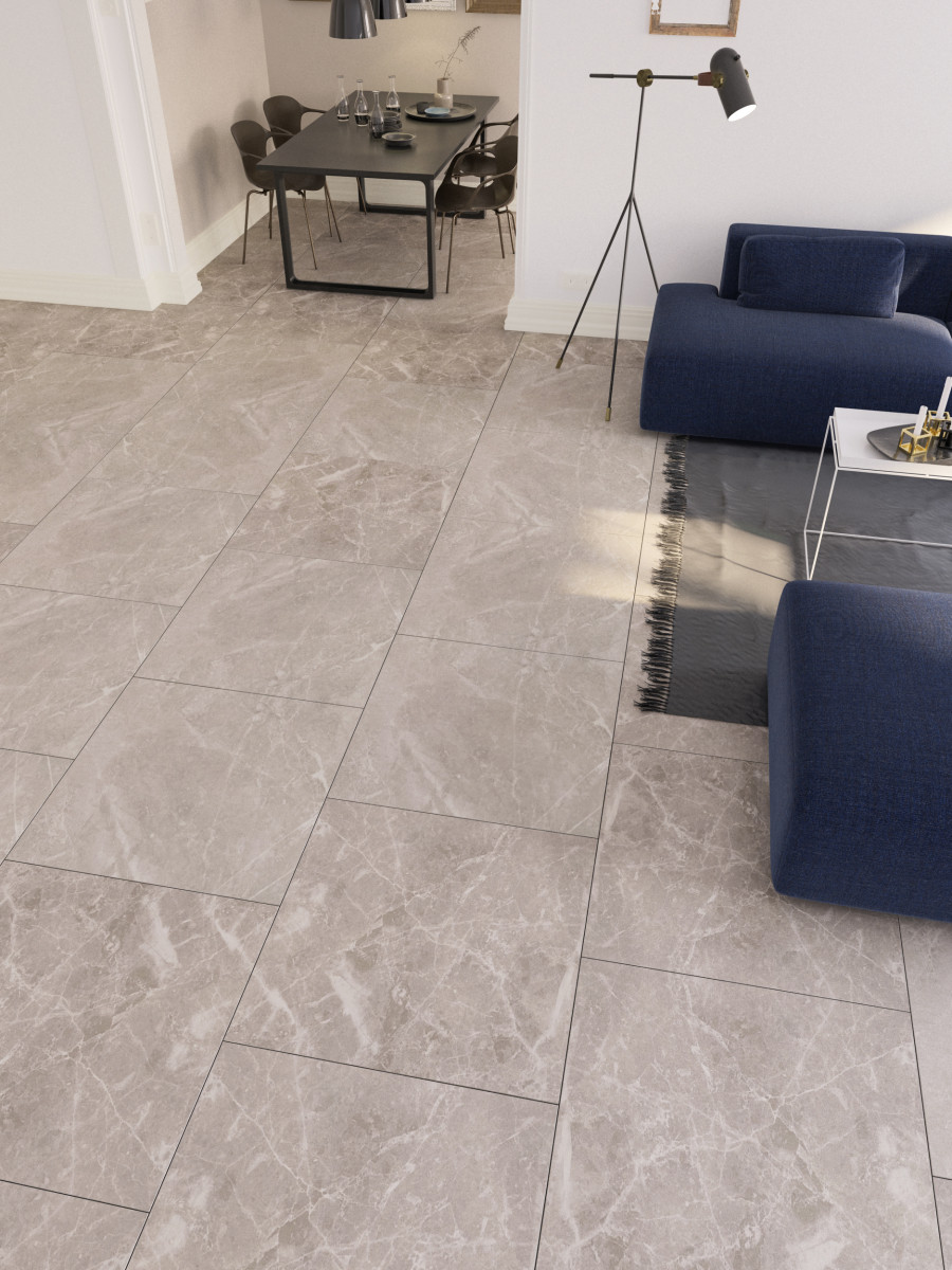 Victoria Cloud Indoor Floor & Wall tiles - 600x600 (mm)