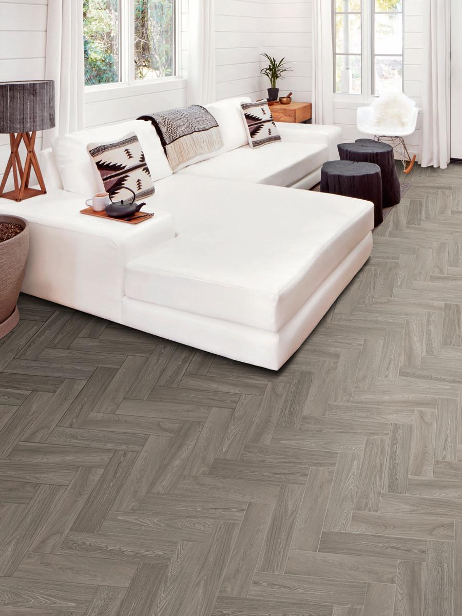 Visual Grey Wood Effect Indoor Tiles - 500x125(mm)