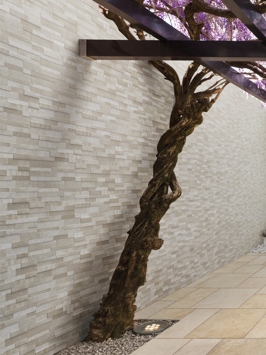 Volcano Beige Split Face Effect Porcelain Wall Tile - 150x610