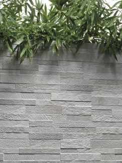 White Quartz Split Face Effect Porcelain Wall Tile - 150x610
